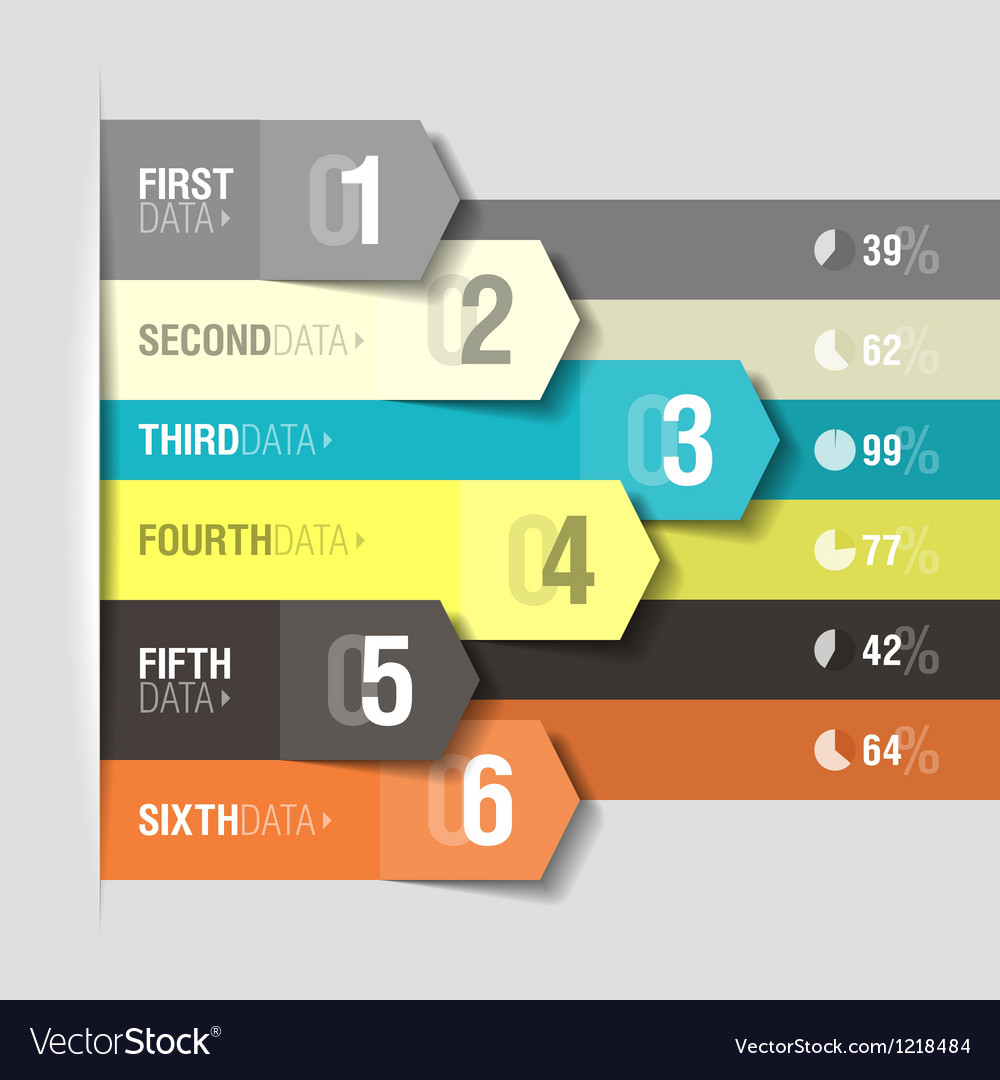 Arrows infographics template vector image