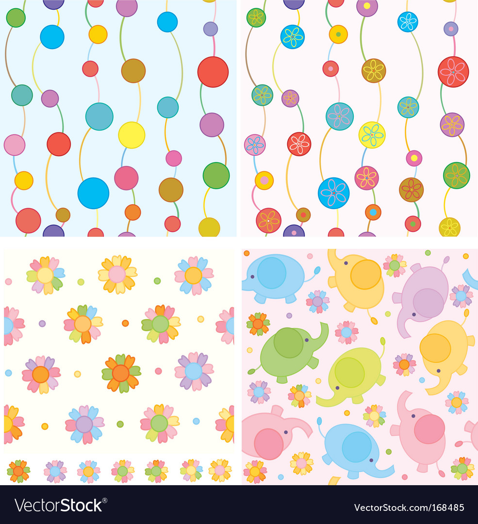 Cute backgrounds vector image