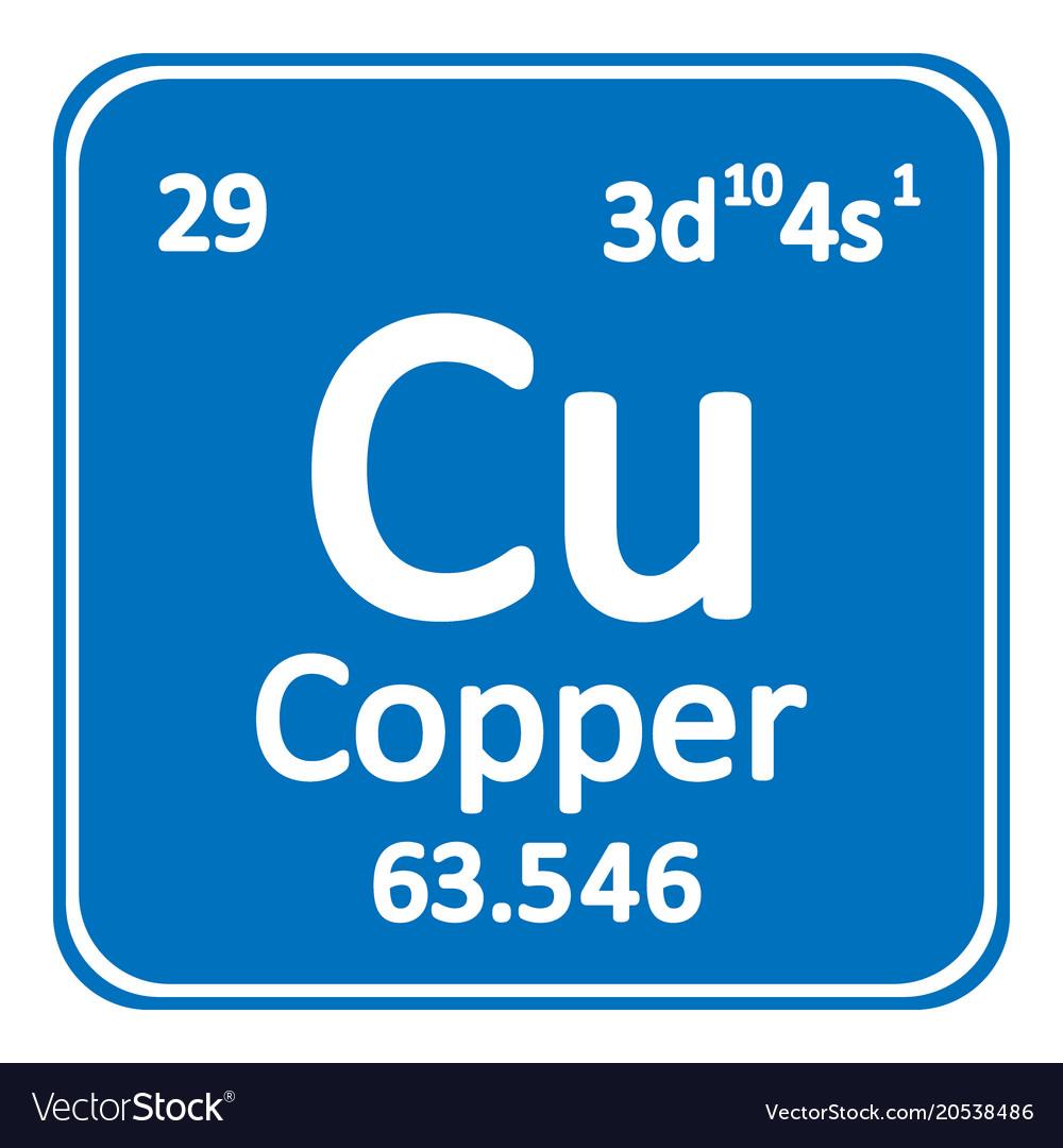 periodic table element copper icon vector image - Periodic Table Copper