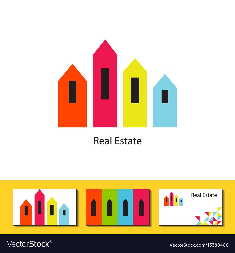 Real estate agency logo concept vector image