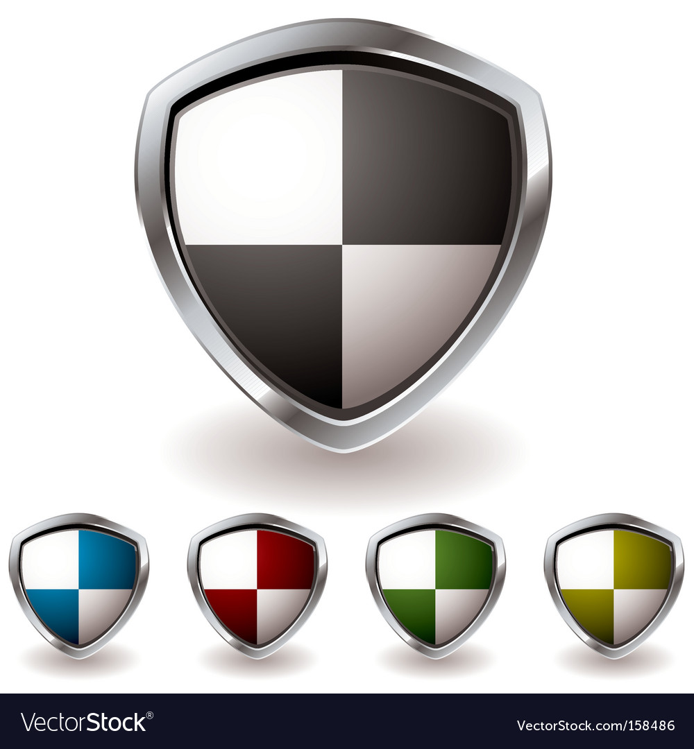 Sheild quaters vector image