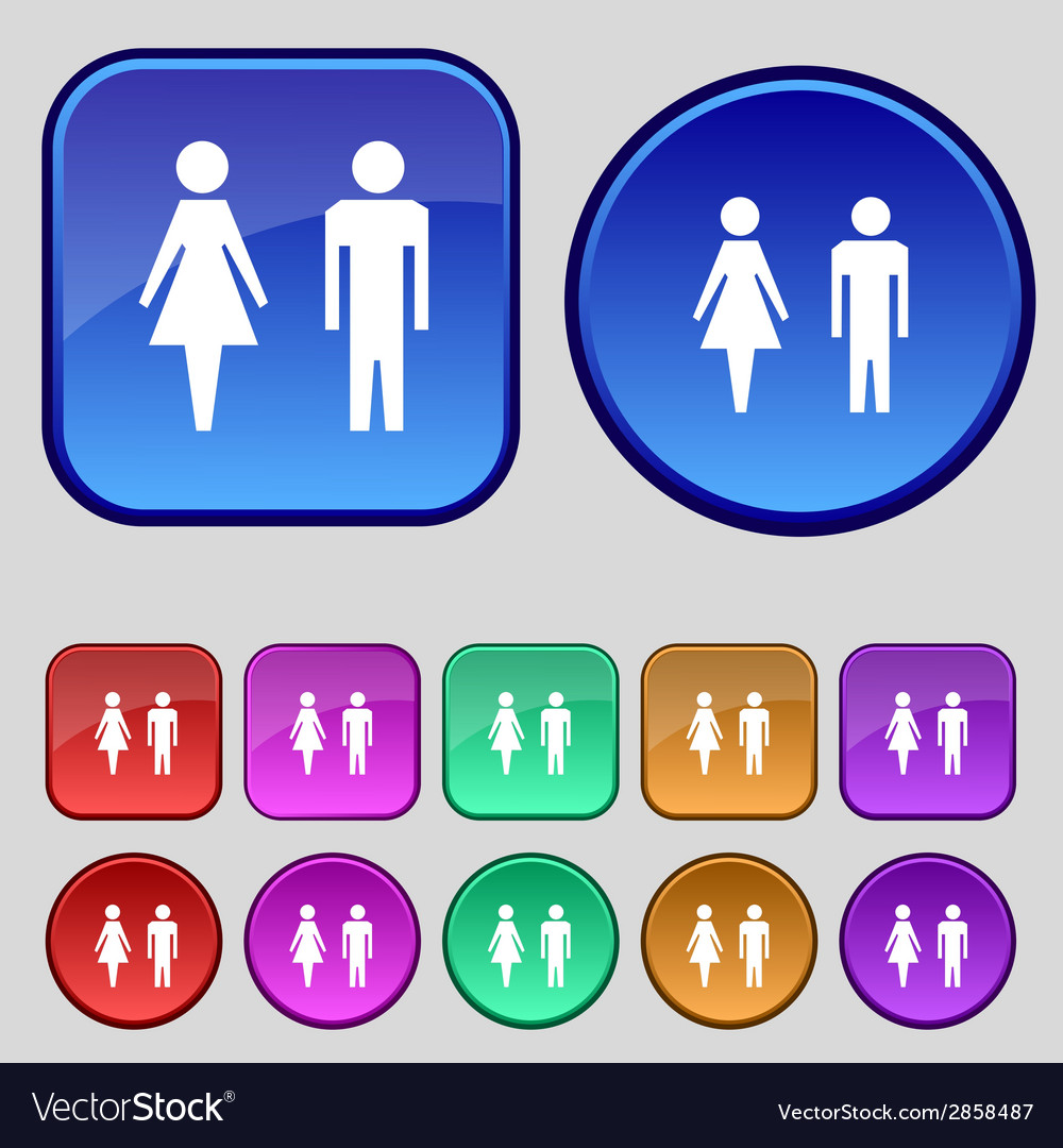 WC Sign Icon Toilet Symbol Male And Female Vector Image
