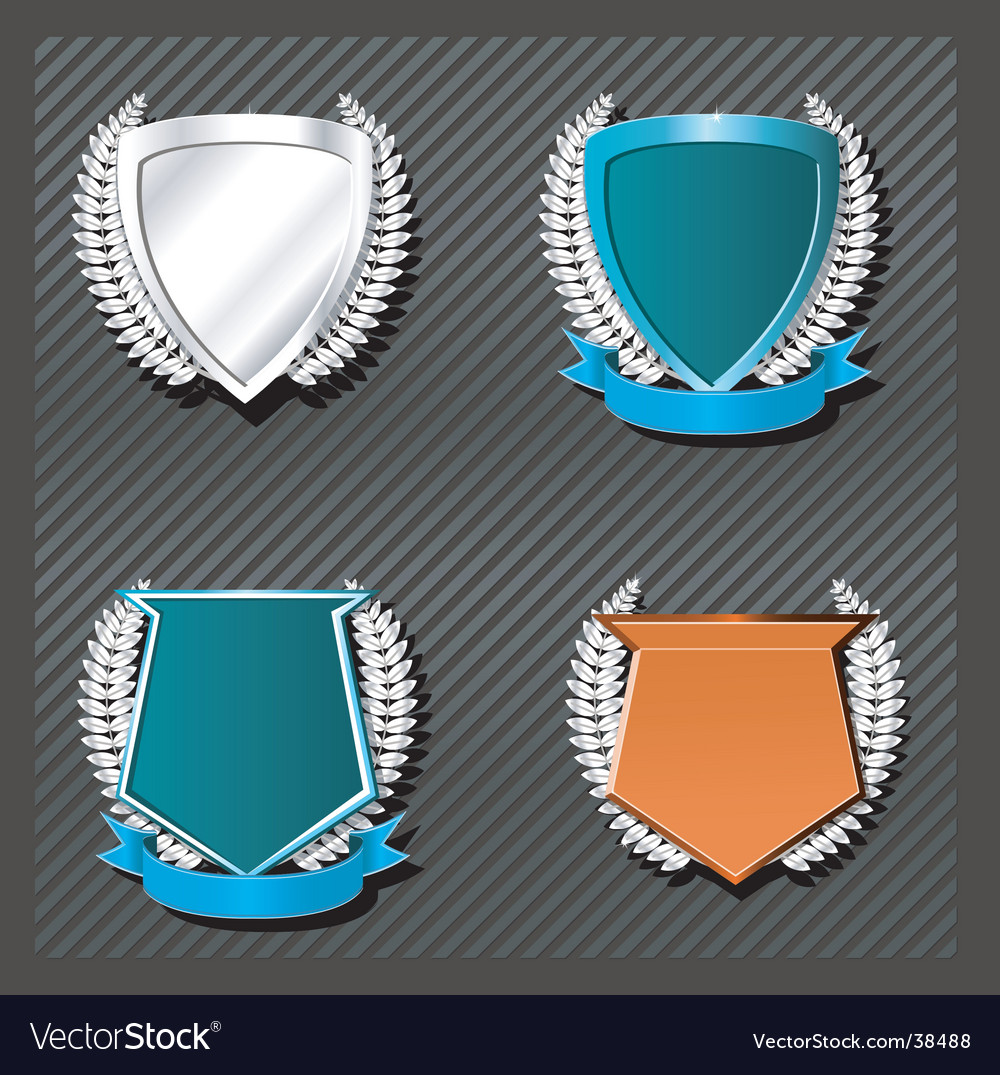 Emblems series wreath Vector Image