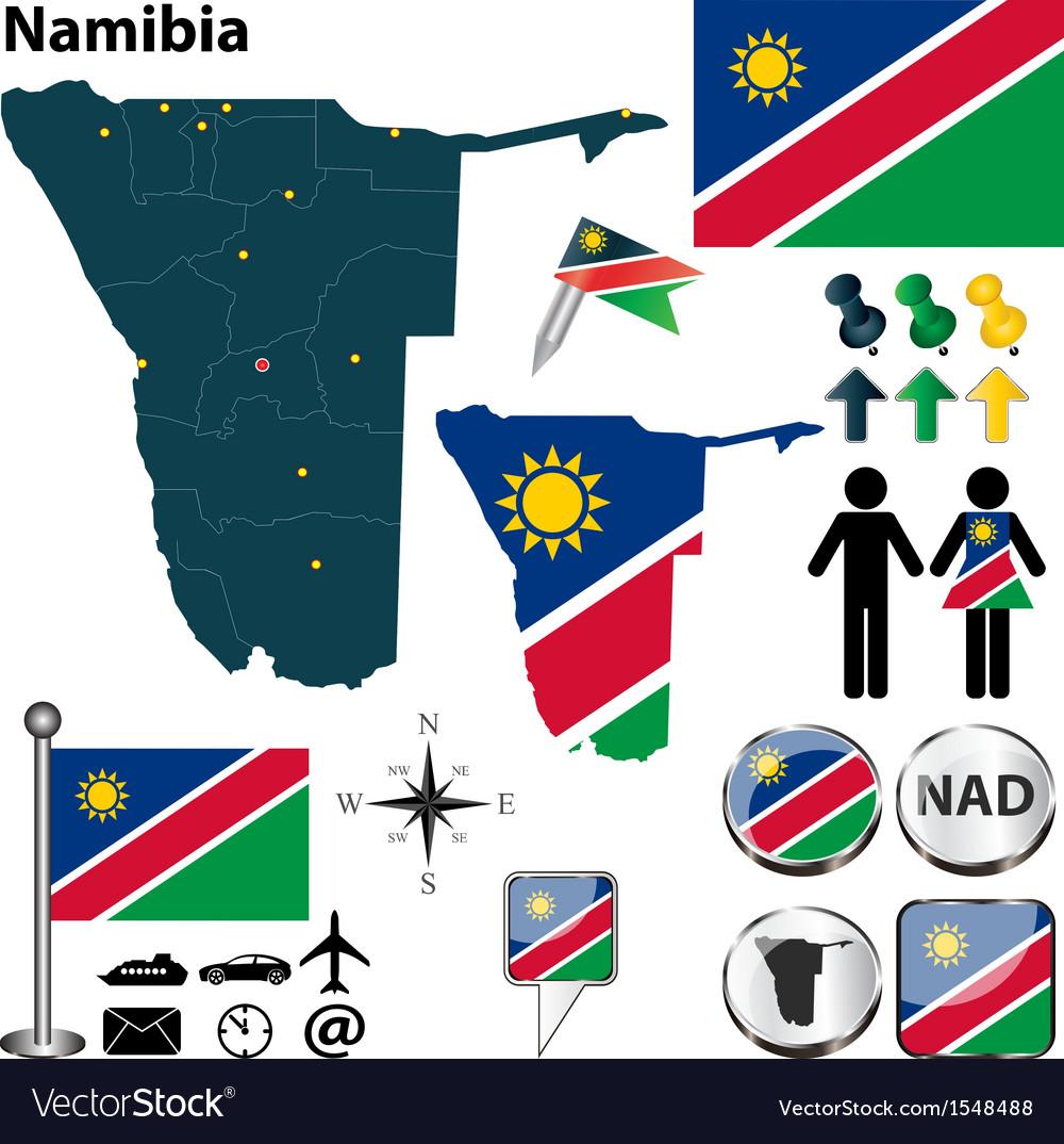 Namibia map vector image
