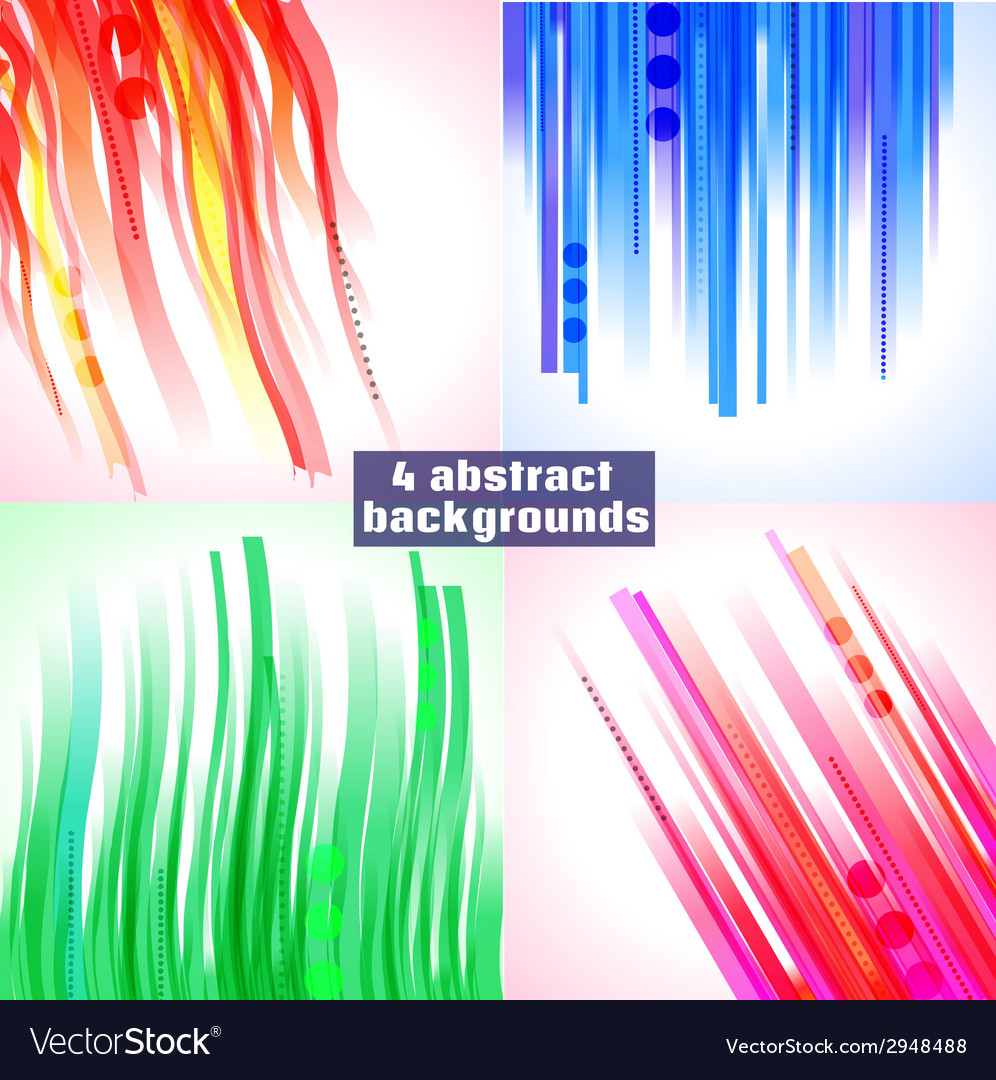 Set of 4 abstract backgrounds vector image