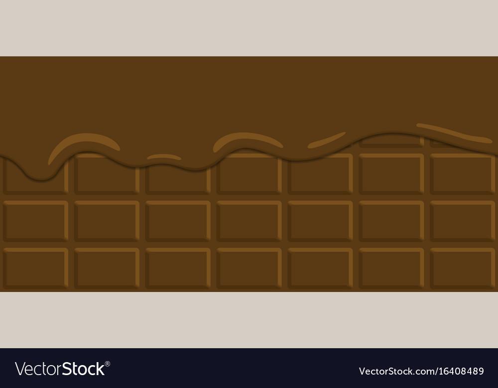 Seamless pattern cocoa cream vector image
