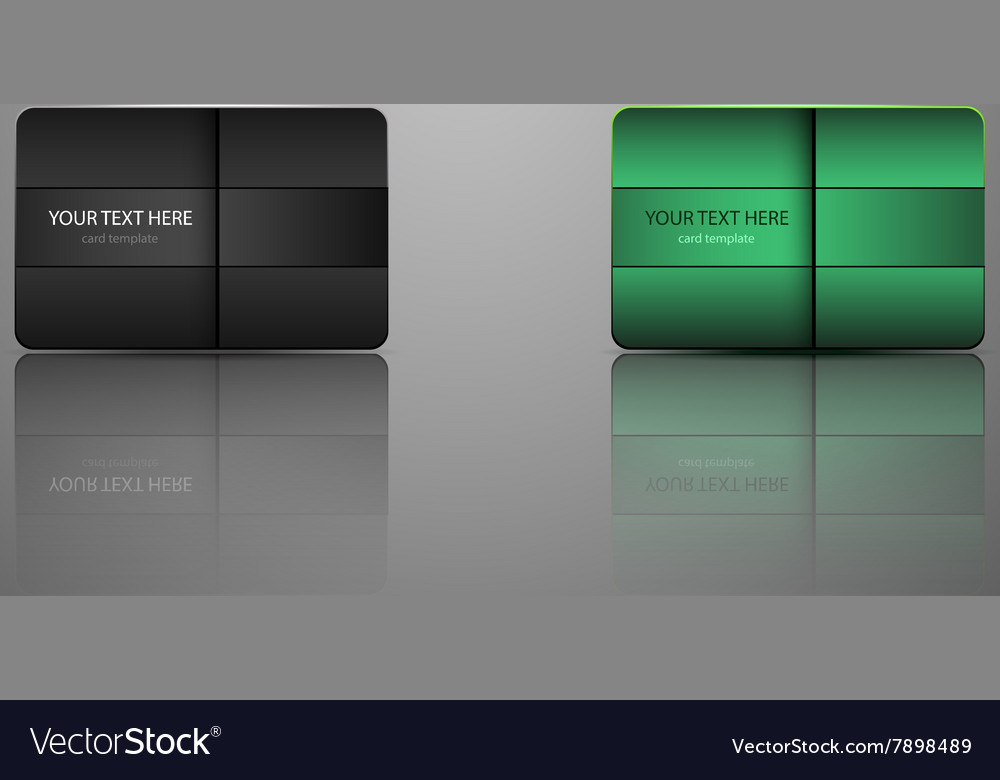 Template Gift card credit card business card an Vector Image