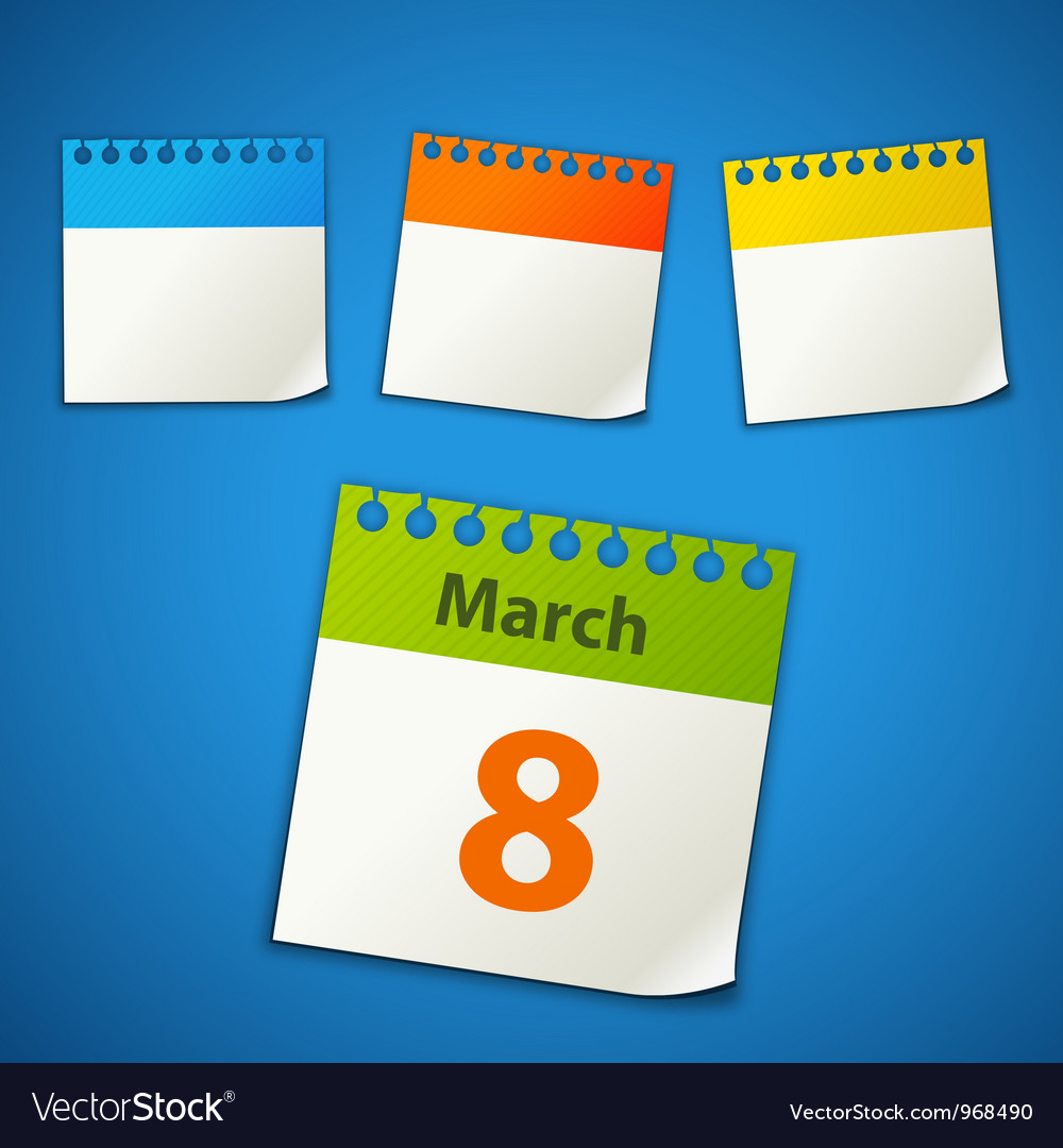 Calendar stickers vector image