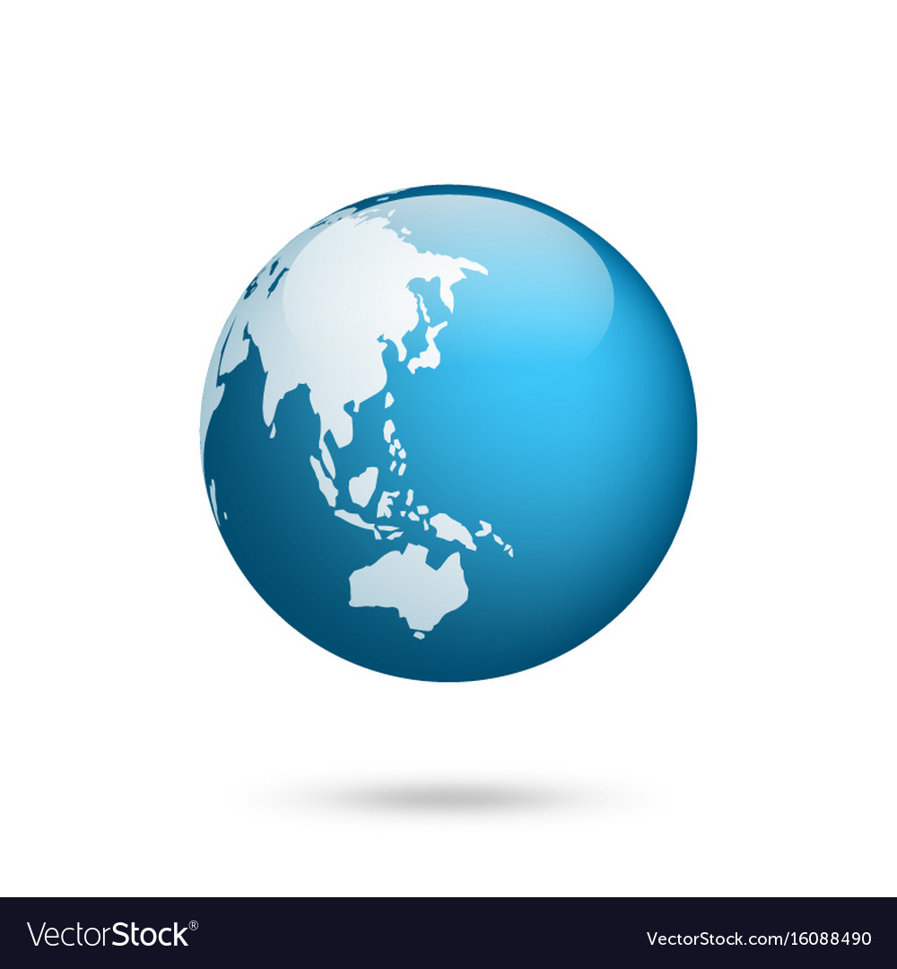 Earth globe world map set planet with continents vector image earth globe world map set planet with continents vector image gumiabroncs Choice Image