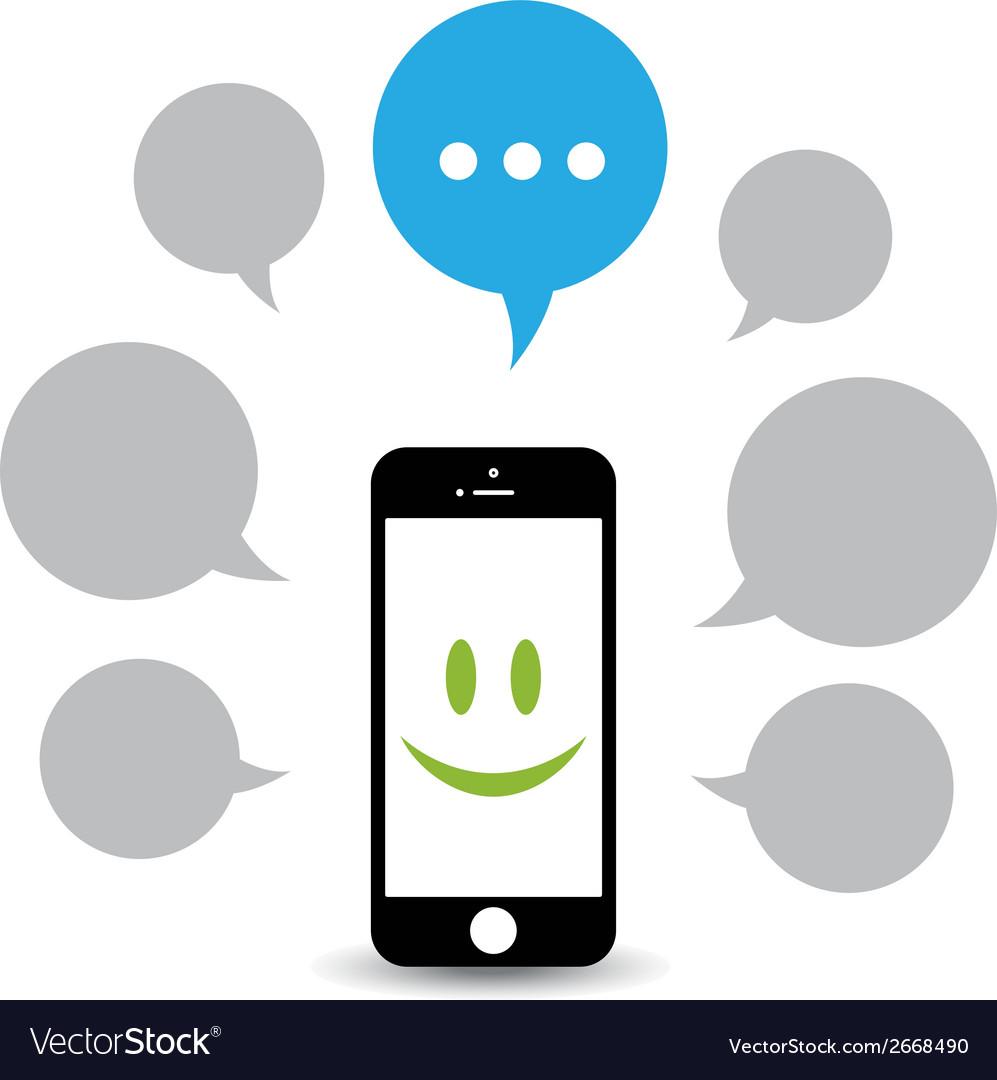 Hello phone vector image
