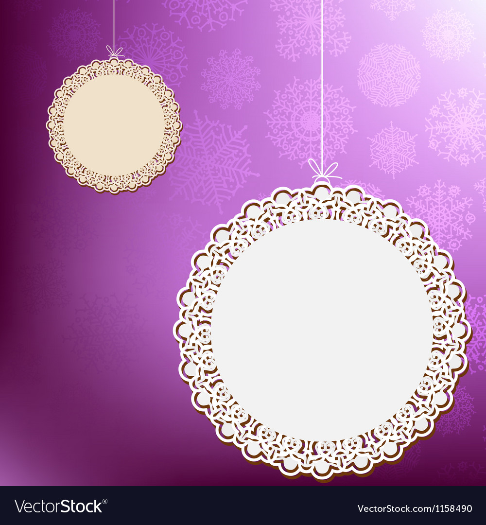 Purple lace ornament card EPS8 vector image