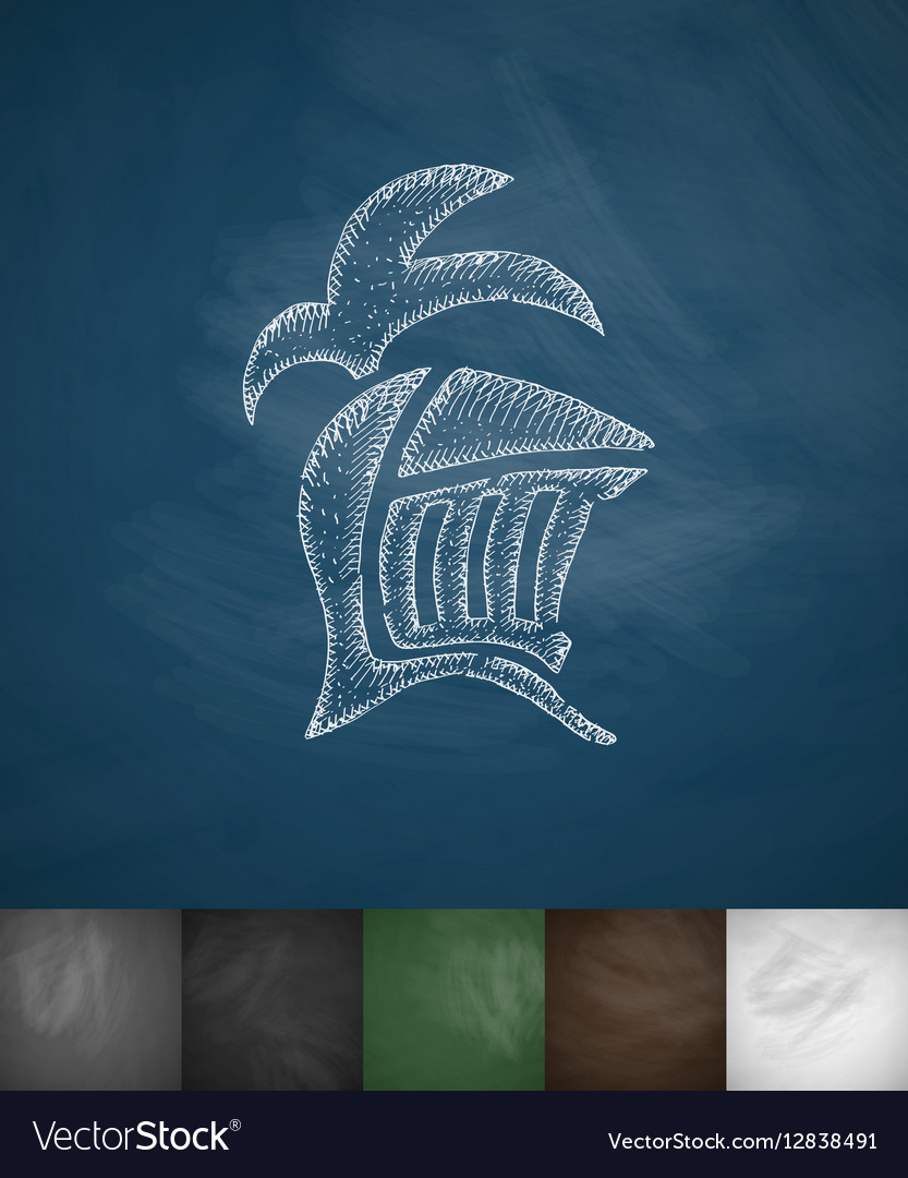 Helm knight icon Hand drawn vector image