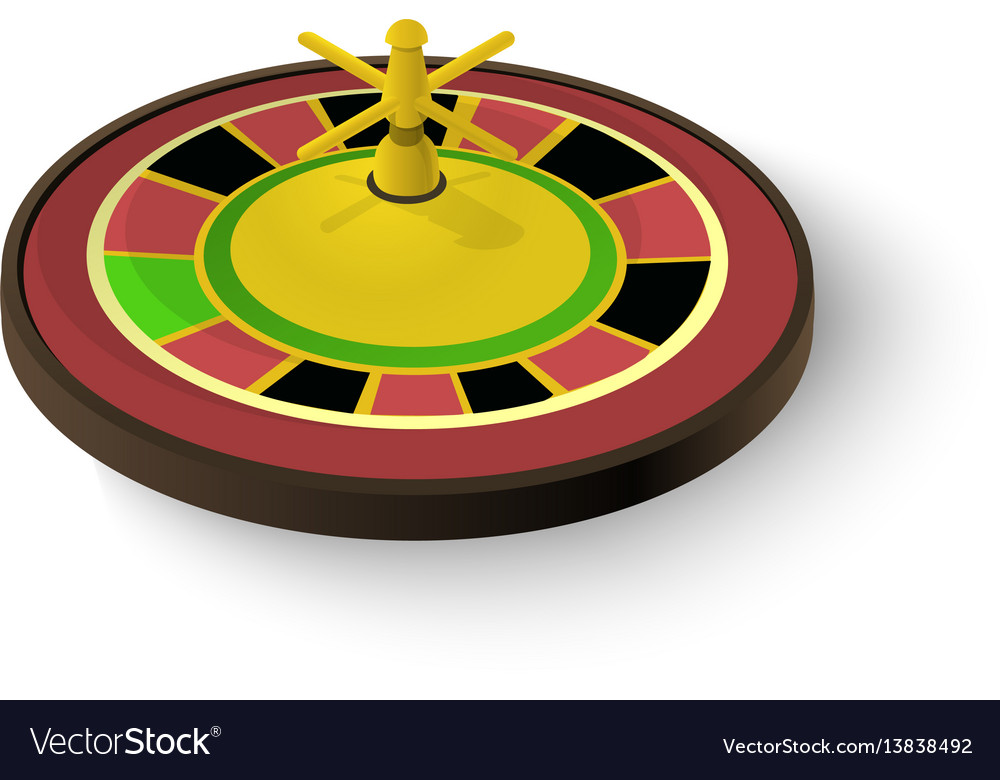 Casino roulette icon isometric 3d style vector image