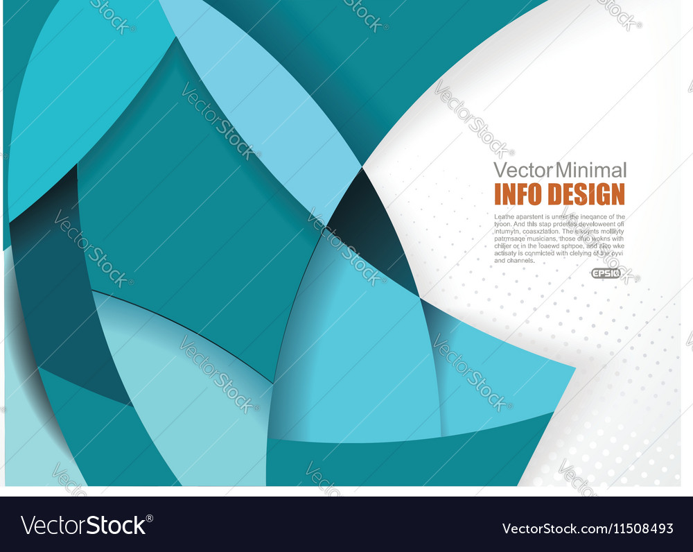 Abstract waving blue smooth background vector image