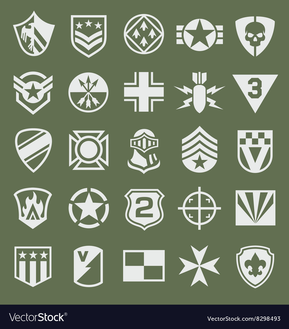 Military icons symbol set on green royalty free vector image military icons symbol set on green vector image biocorpaavc Images