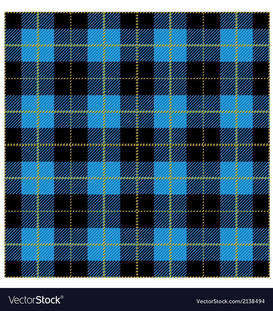 Blue Tartan Plaid Design vector image