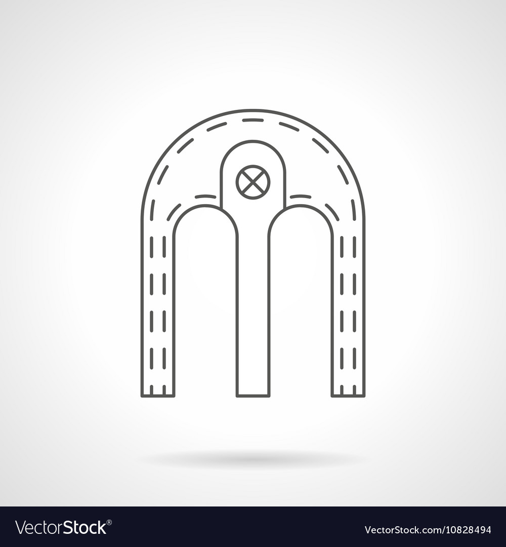 Double arch flat line icon vector image