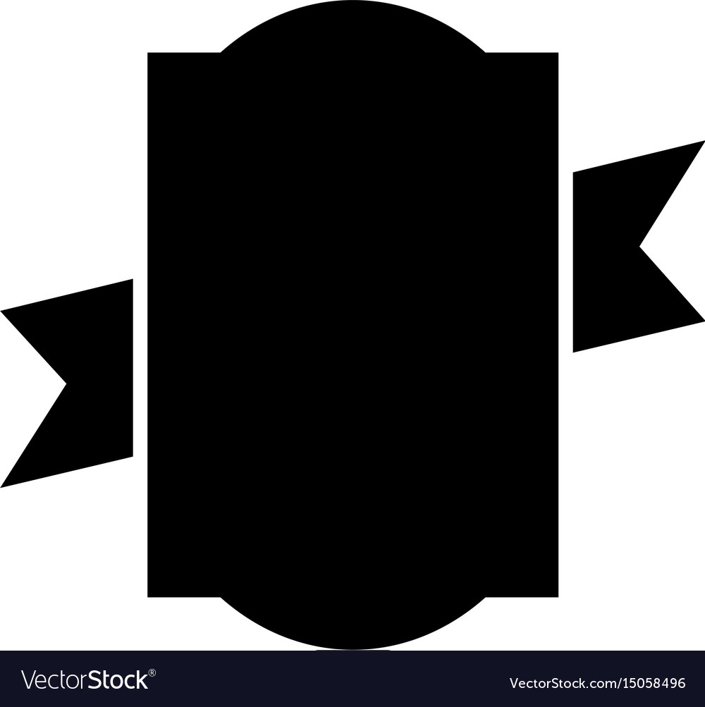 Black icon emblem vector image