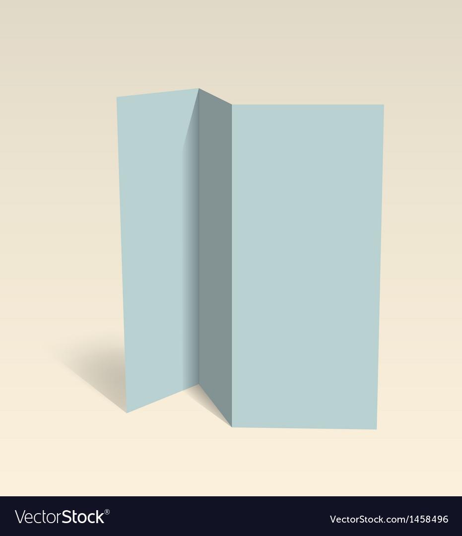 Blank Brochure Editable Design Template Royalty Free Vector - Blank brochure template
