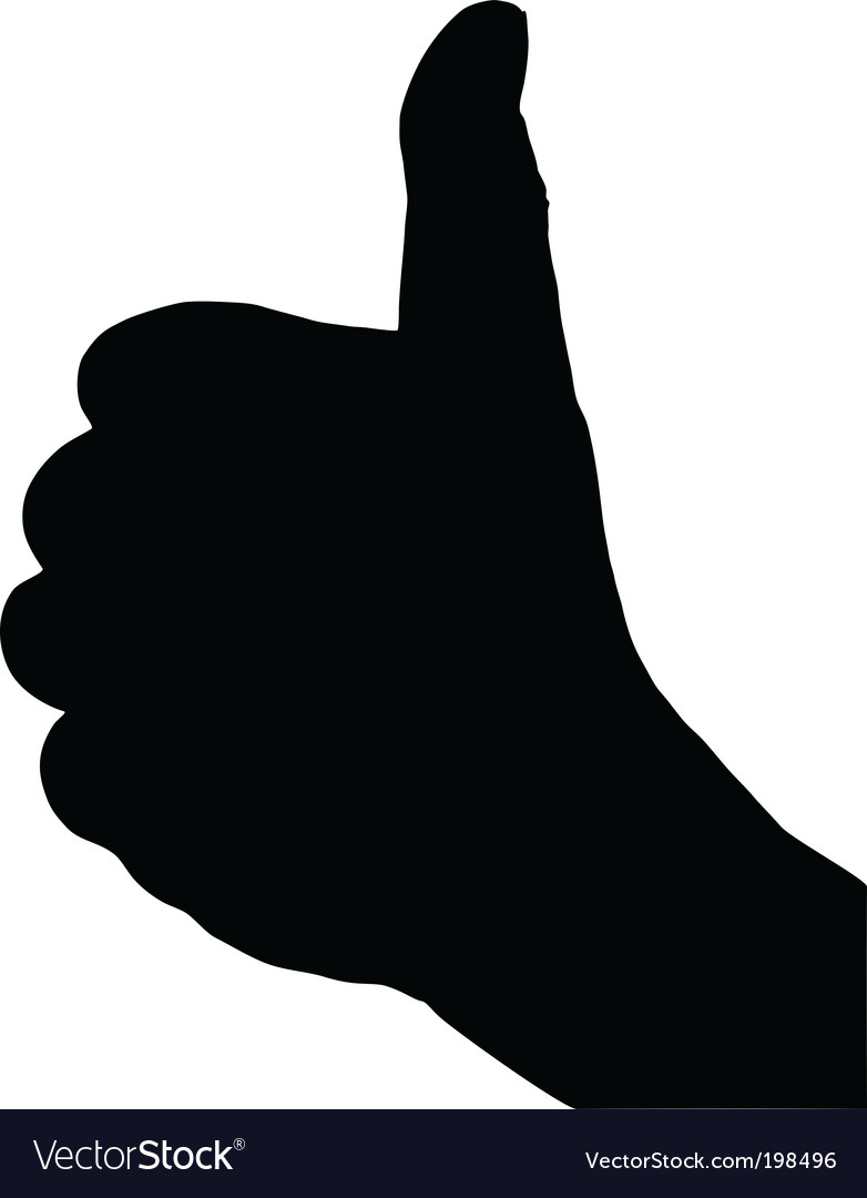 Finger signs vector image