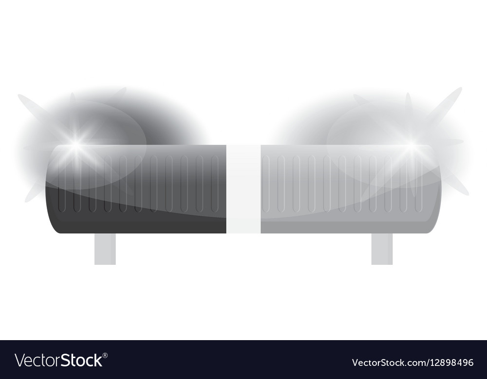 Grayscale siren police car icon vector image
