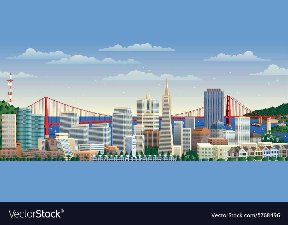 San Francisco vector image
