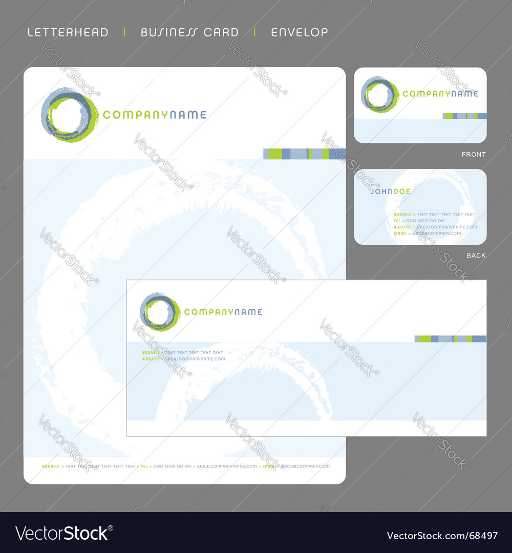 Stationery template vector image