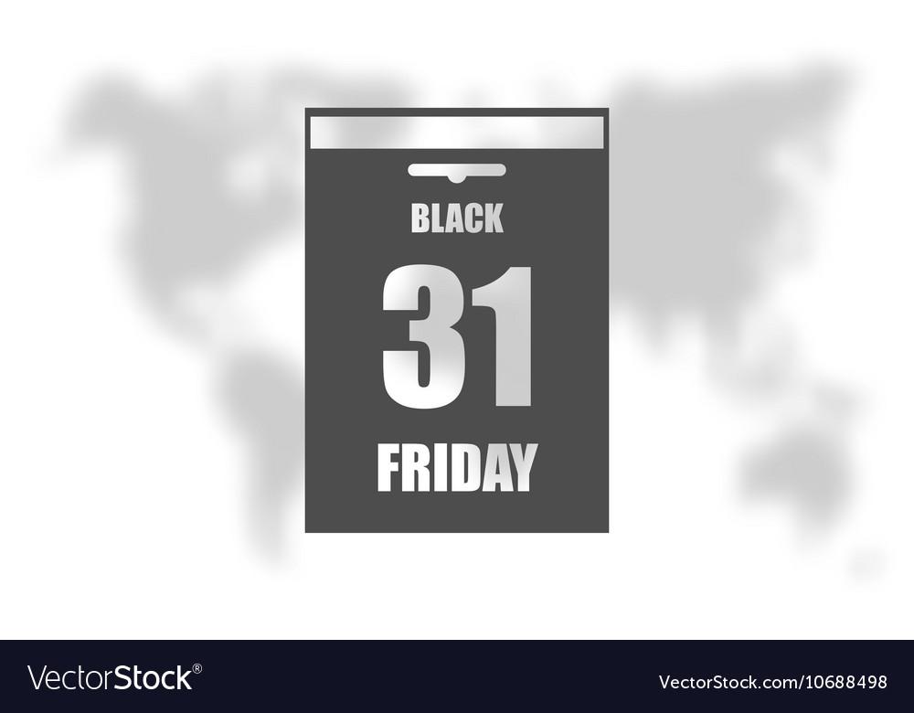 black friday sale calendar date page royalty free vector. Black Bedroom Furniture Sets. Home Design Ideas
