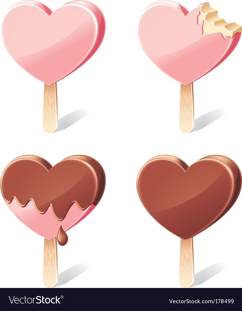 Yummy hearts vector image