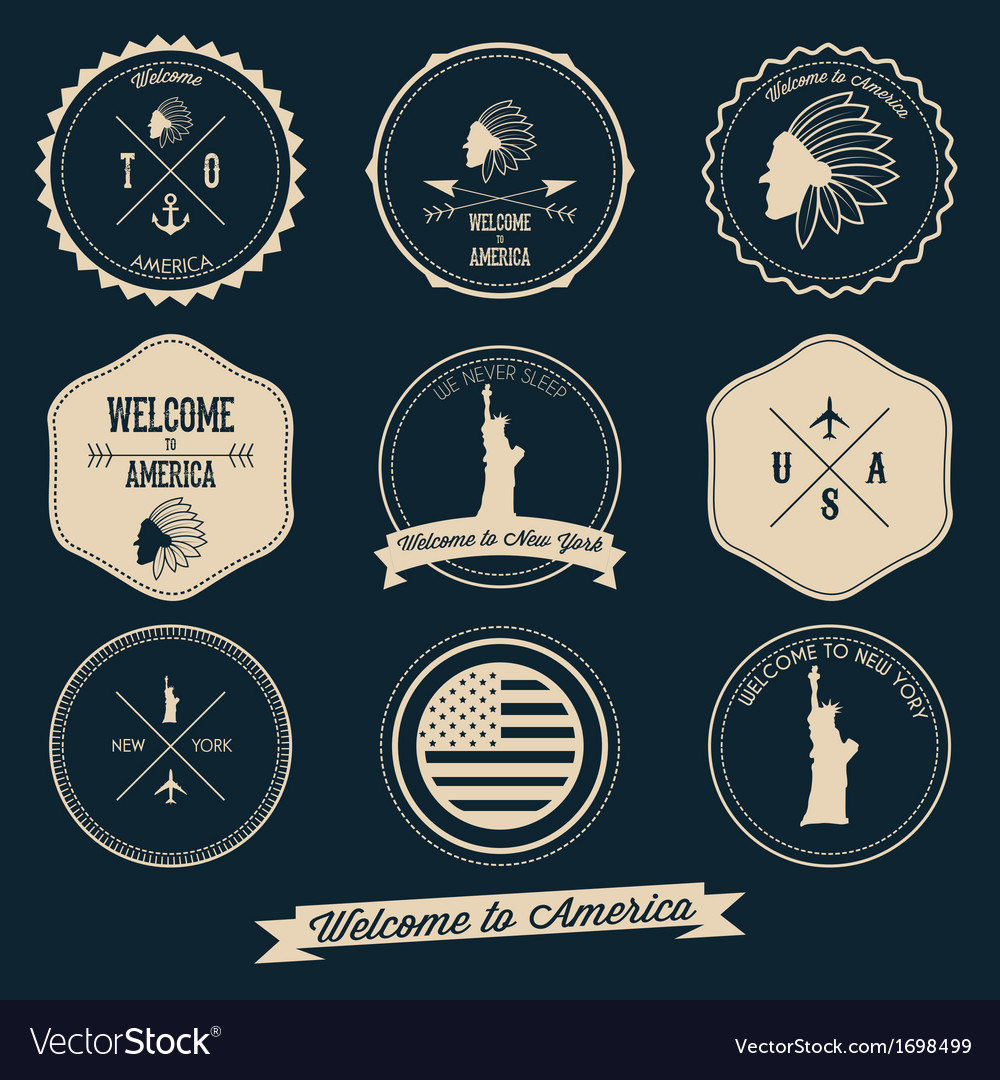 America Label Design vector image