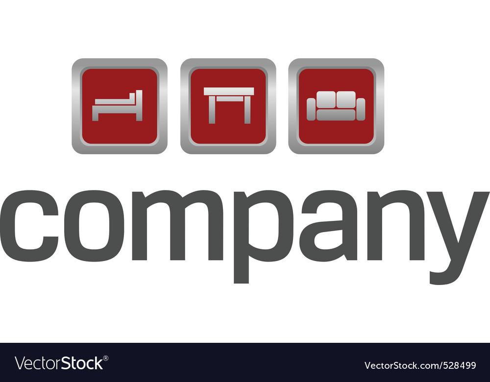 Furniture for home logo vector image