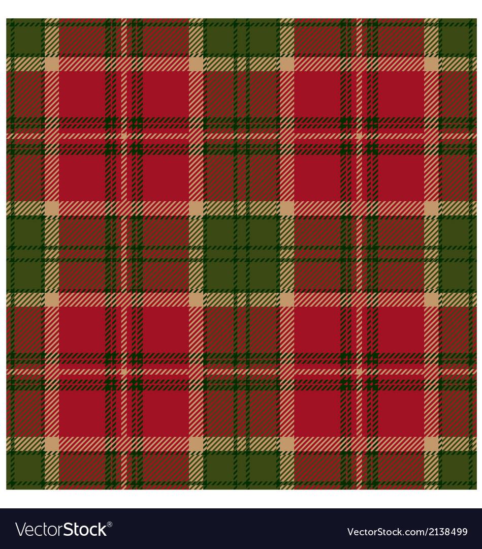 Green Tartan Design vector image