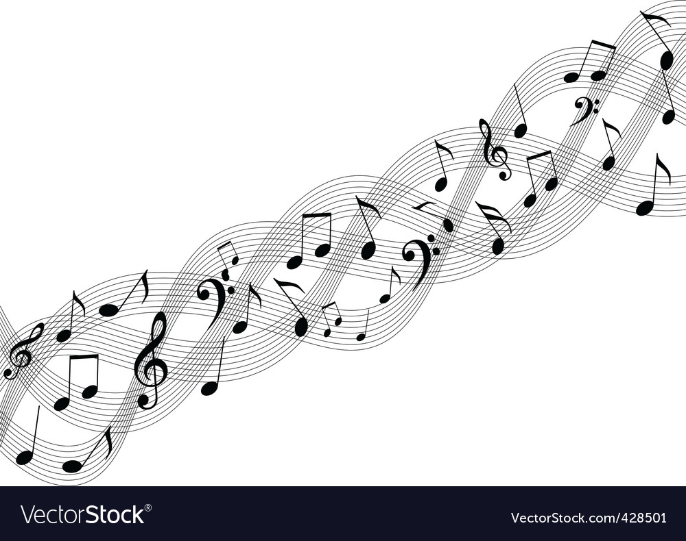 Vector music element Vector Image