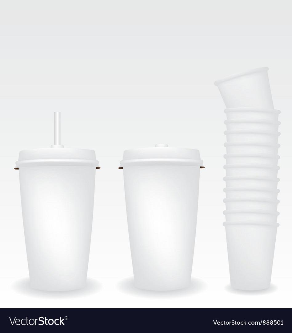 Paper cups Vector Image