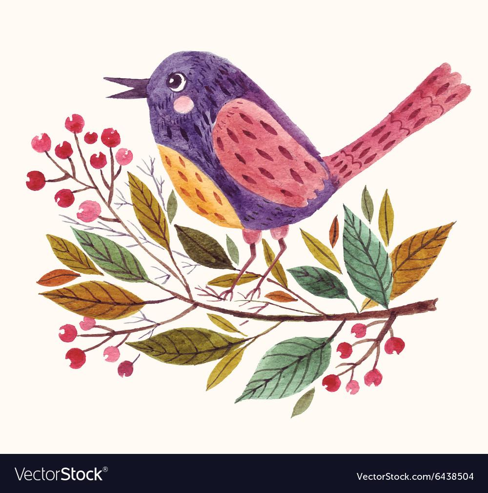Adorable bird vector image