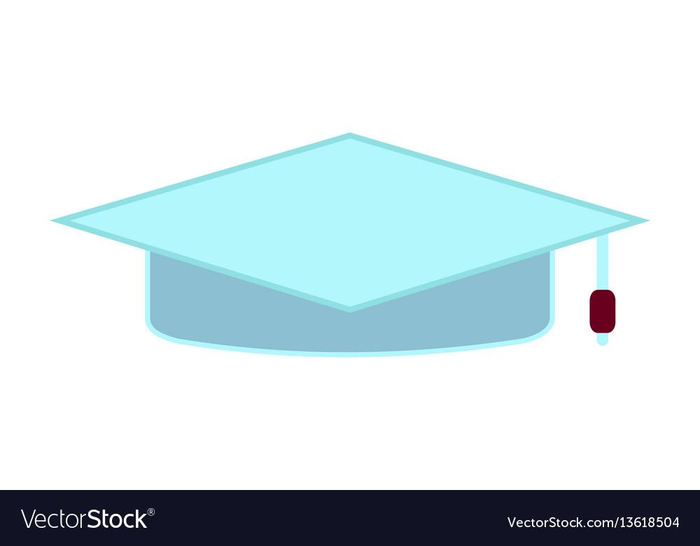 Cartoon education academic square cap flat icon vector image