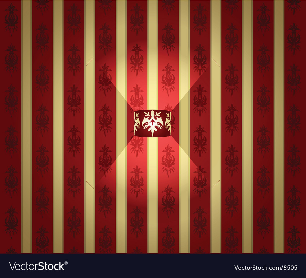 Lamp and wallpaper vector image