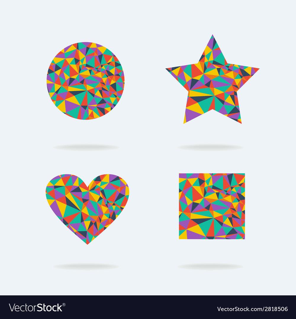 Set of bright symbols vector image