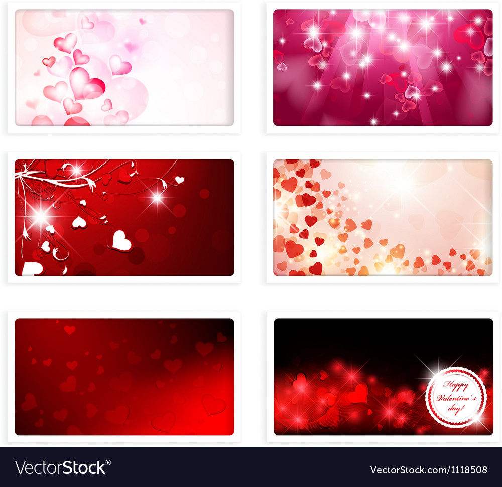 Valentine and Wedding Greeting eCard Vector Image