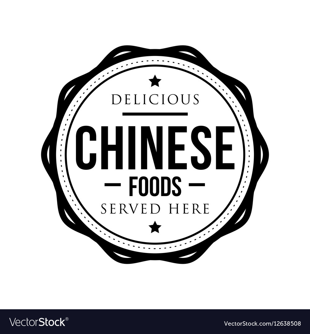 Delicious Chinese Foods vintage stamp vector image