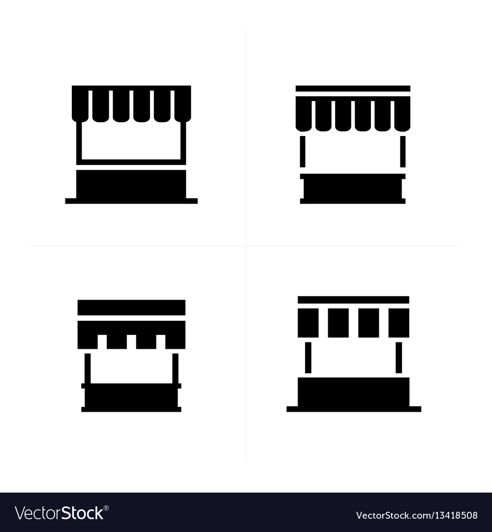 Fast food trolley icons vector image