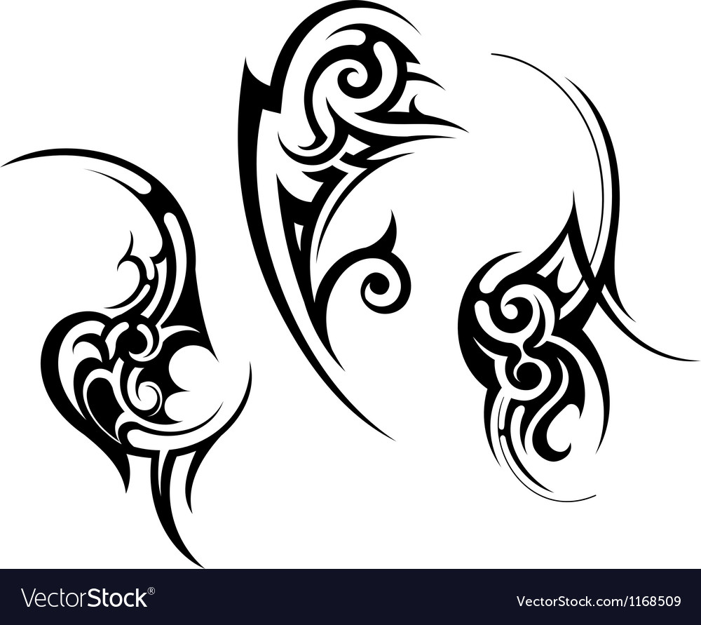 abstract tribal tattoo design royalty free vector image. Black Bedroom Furniture Sets. Home Design Ideas