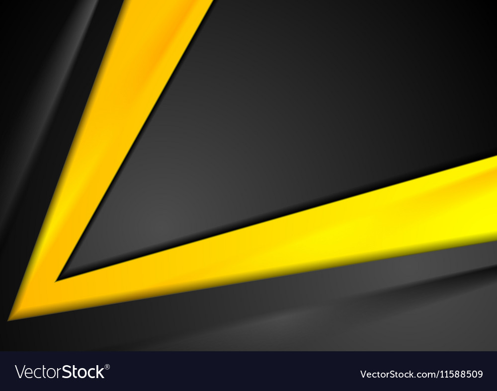 Contrast orange black abstract background vector image