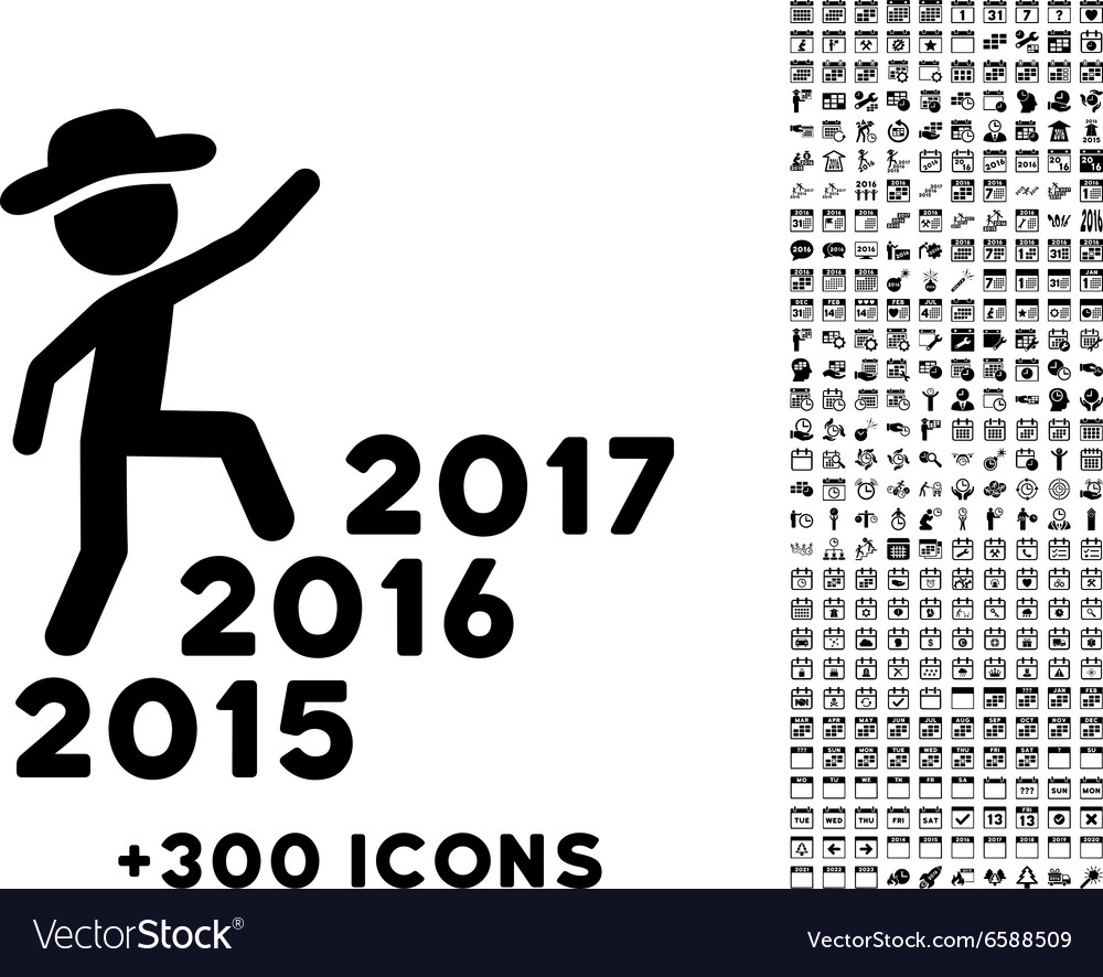 Human Figure Steps Years Icon vector image