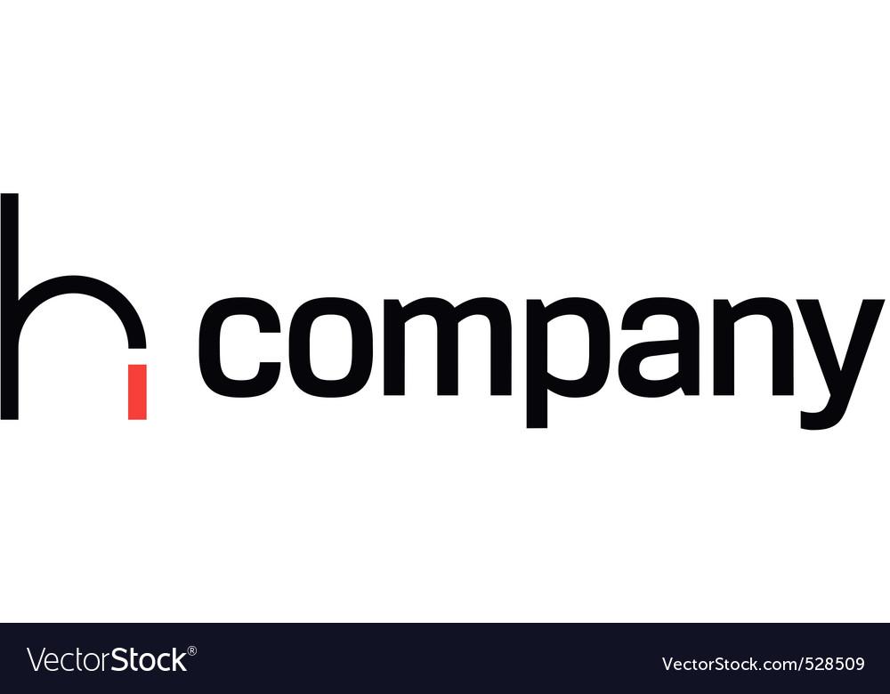 Modern studio chair logo vector image