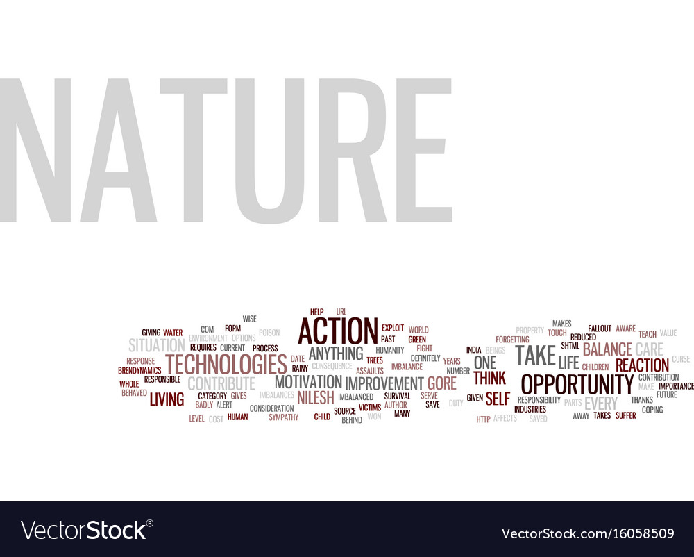 The nature s opportunity text background word vector image