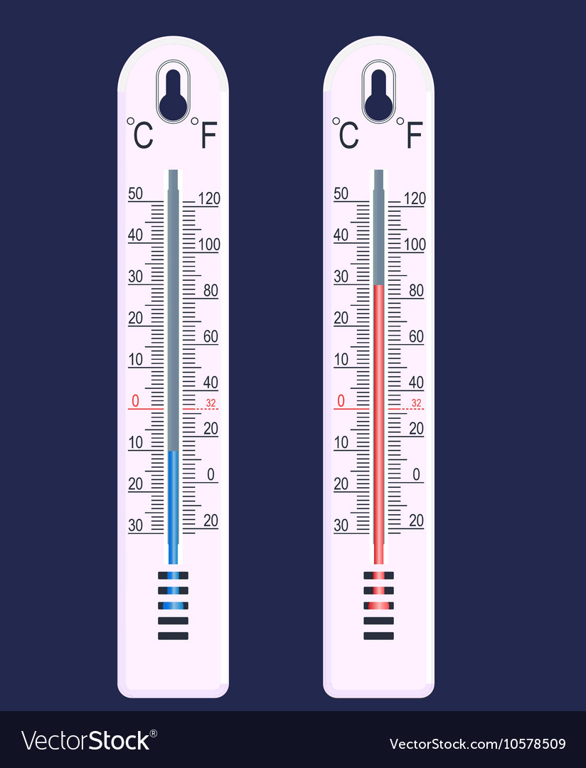 Thermometer cold and hot vector image