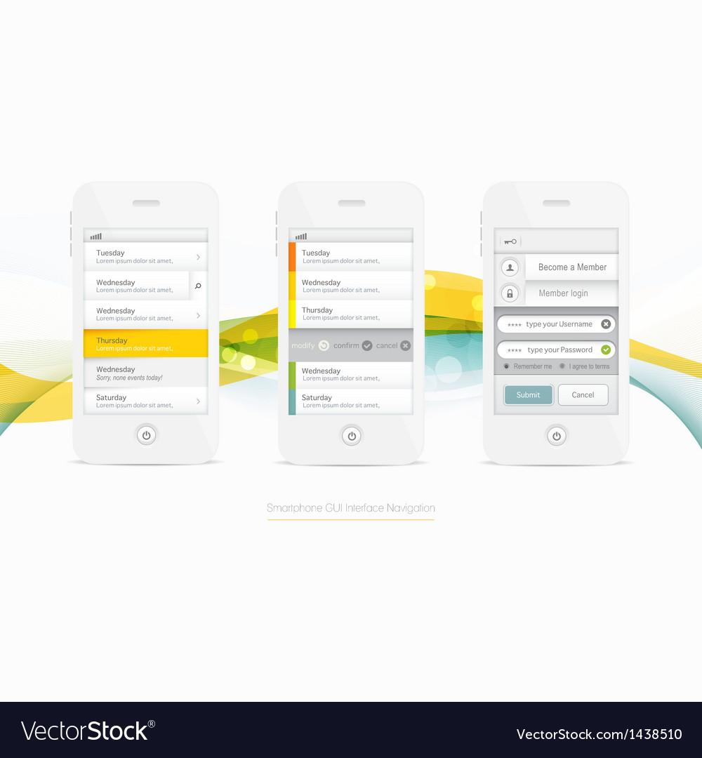 Smartphone Graphic GUI Navigation vector image