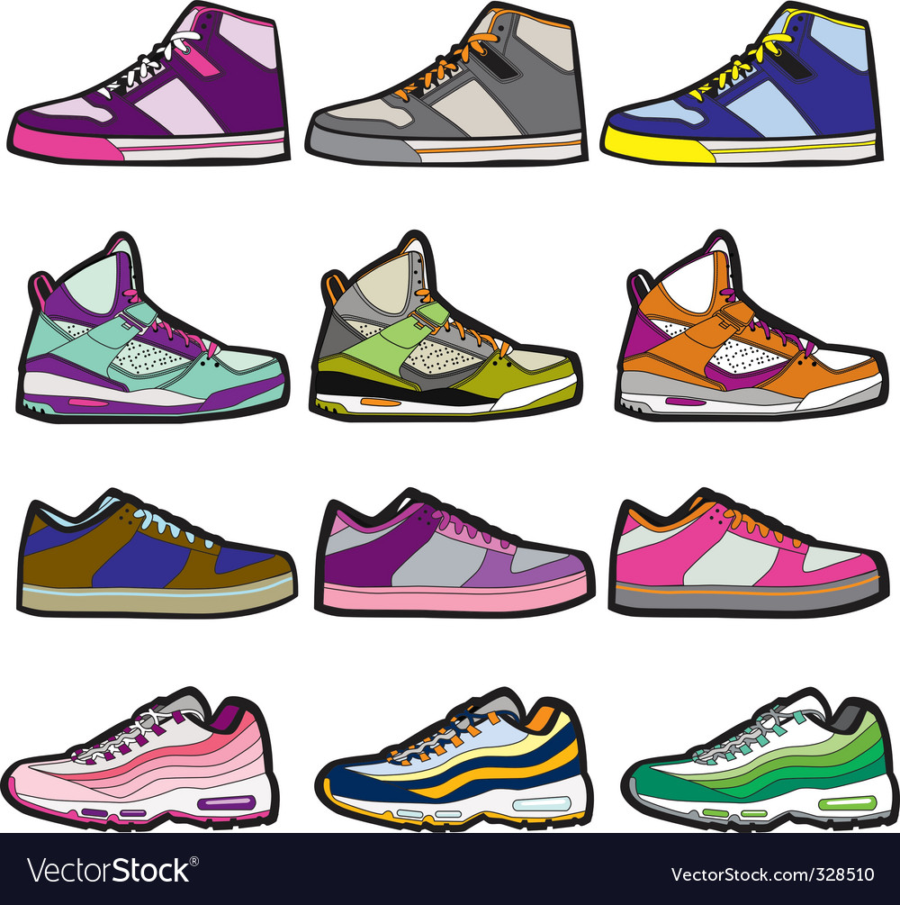 Sneaker sets illustration vector image
