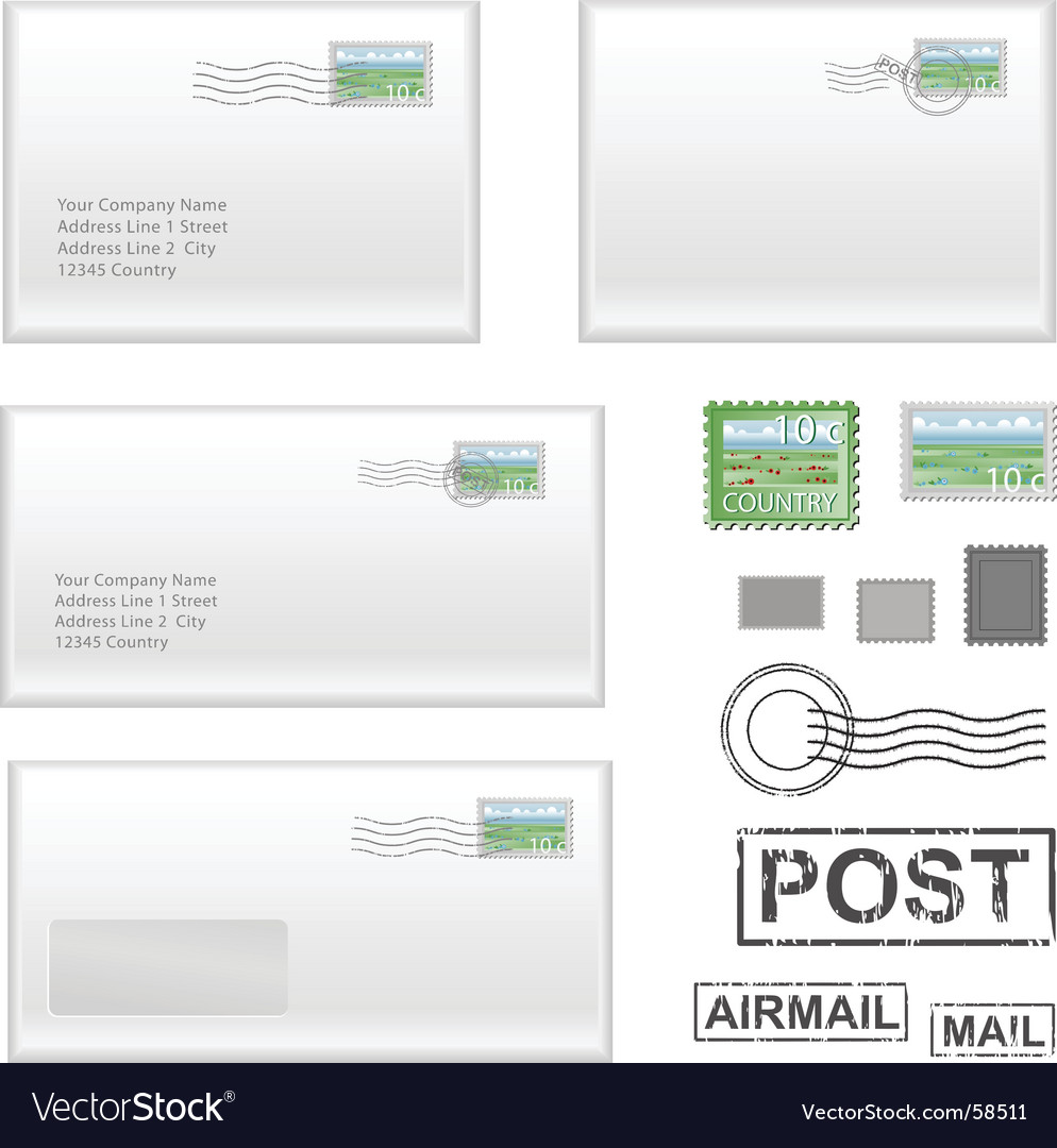 Mail address Vector Image